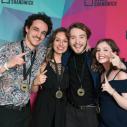 Équipe de Bulletin de nouvelles, médaille d'or : Marc-Antoine Nunez, Meghan Duchesne, Thomas Picotte-Lavoie et Raphaëlle Drouin