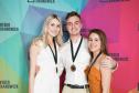 Équipe de Radio, médaille de bronze : Florence D'amboise, Julien Latraverse et Gabrielle Thouin