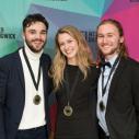 Équipe de Relations publiques, médaille d'or : André-Félix Barriault, Rose-marie Ménard-Richard et Louis-Philippe Vachon