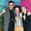 Équipe de Vitrine culturelle, médaille d'or : Olivier Trahan, Jean-Philippe Cauchon et Corinne Picotte-Lavoie